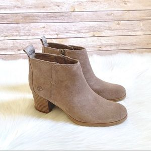Timberland Taupe Eleonor Street Ankle Booties